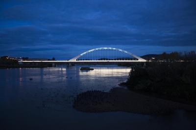 The Lusitania Bridge at Night over the Guadiana River-Macduff Everton-Photographic Print