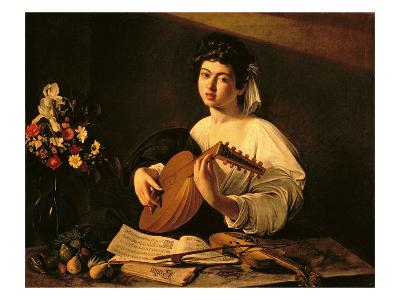The Lute Player, c.1595-Caravaggio-Giclee Print
