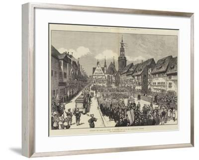 The Luther Celebration in Germany--Framed Giclee Print
