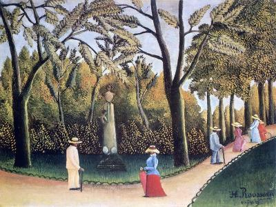 The Luxembourg Gardens, Monument to Chopin, 1909-Henri Rousseau-Giclee Print