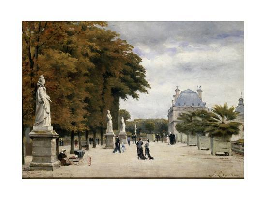 The Luxembourg Gardens, Paris, France-Stanislas-Victor-Edmond Lepine-Giclee Print