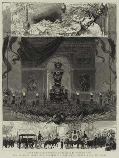 The Lying-In-State and Funeral of the Late Victor Hugo in Paris--Giclee Print