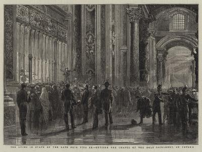 The Lying in State of the Late Pope Pius Ix, Outside the Chapel of the Holy Sacrament, St Peter'S--Giclee Print