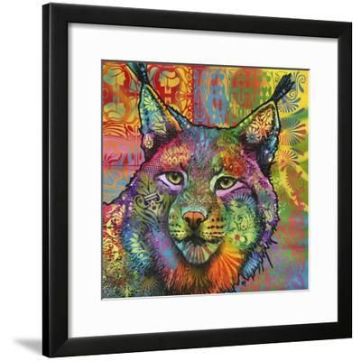The Lynx, Big Cats, Animals, Colorful, Pop Art, Stencils-Russo Dean-Framed Giclee Print