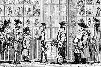 The Macaroni Print Shop, 1772--Giclee Print