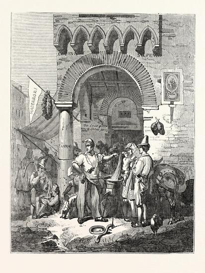 The Maccaroni Seller of Naples. Italy--Giclee Print