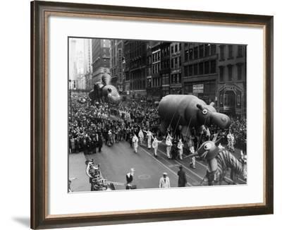 The Macy's Thanksgiving Day Parade, New York City, November 26, 1931--Framed Photo