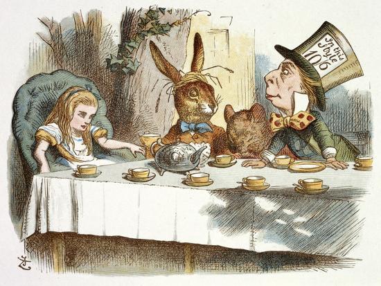 The Mad Hatter's Tea Party-John Teniel-Premium Giclee Print