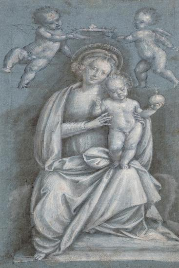 The Madonna and Child Crowned by Two Angels-Bernardino Lanino-Giclee Print