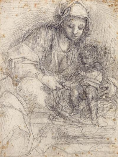 The Madonna and Child with a Carthusian Monk-Alessandro Tiarini-Giclee Print