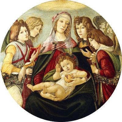 The Madonna and Child with Four Angels-Sandro Botticelli-Giclee Print