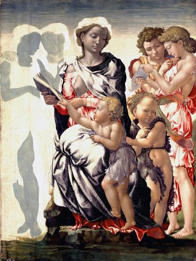 The Madonna and Child with Saint John and Angels-Michelangelo Buonarroti-Photographic Print