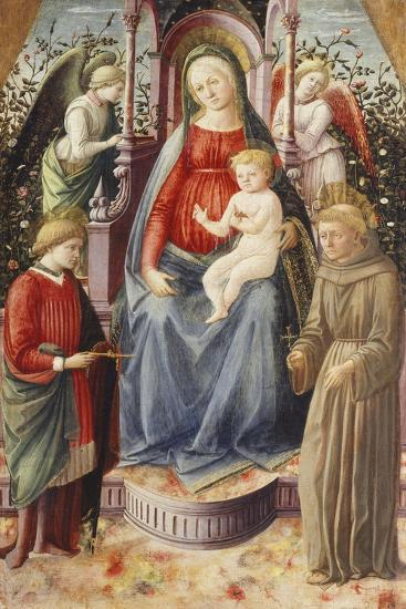 The Madonna and Child with Saints Julian and Francis-Francesco Di Stefano Pesellino-Giclee Print