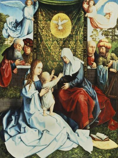 The Madonna and Child, with St. Ann, Surrounded by Angels and Donors-Bernard van Orley-Giclee Print