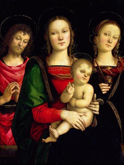 The Madonna and Child with St. John the Baptist and St. Catherine of Alexandria-Perugino-Giclee Print