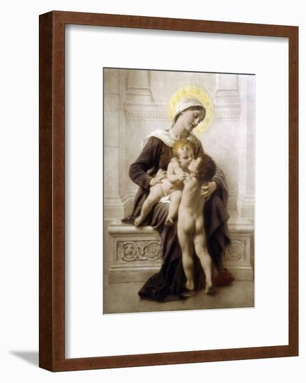 The Madonna and Child with St. John-Leon Perrault-Framed Giclee Print