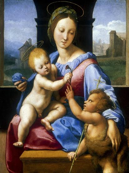 The Madonna and Child with the Infant Baptist' ('The Garvagh Madonna), C1509-1510-Raphael-Giclee Print