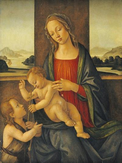 The Madonna and Child with the Infant Saint John the Baptist-Sandro Botticelli-Giclee Print