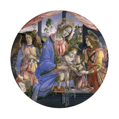 The Madonna and Child with the Infant St. John and Two Angels, Mid-1480s-Filippino Lippi-Giclee Print