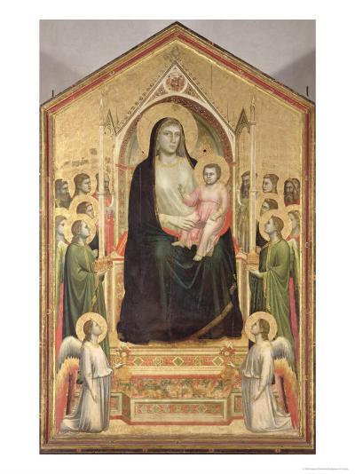 The Madonna Di Ognissanti, circa 1310 (Pre-Restoration)-Giotto di Bondone-Giclee Print