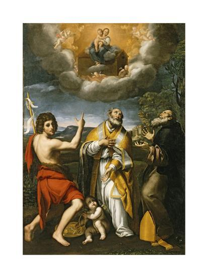 The Madonna of Loreto Appearing to St. John the Baptist, St. Eligius, and St. Anthony Abbot-Domenichino-Giclee Print