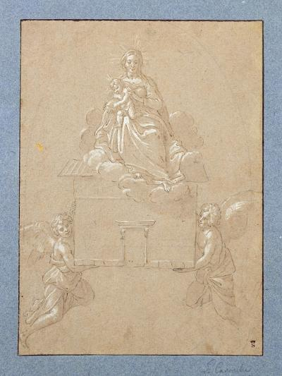 The Madonna of Loreto (Pen and Ink)-Annibale Carracci-Giclee Print