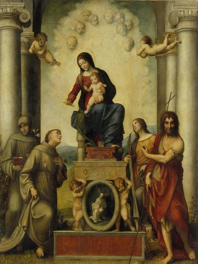 The Madonna of Saint Francis, 1514-15-Correggio-Giclee Print