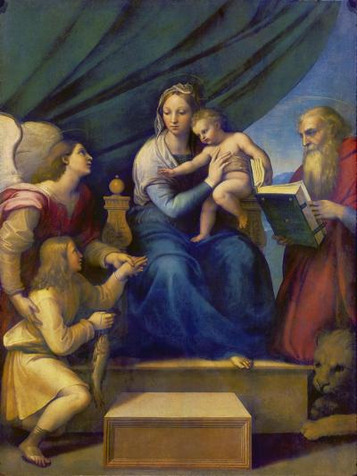 The Madonna of the Fish (The Madonna with the Archangel Raphael, Tobias and St, Jerome), C. 1513-Raffael-Giclee Print