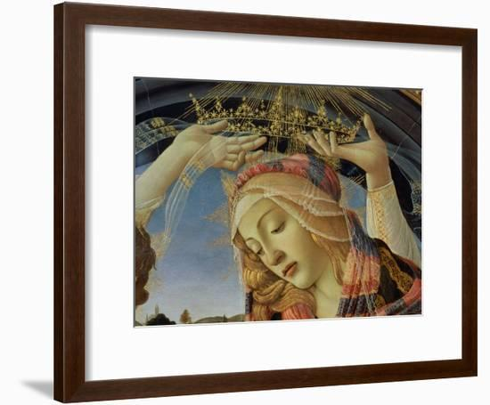 The Madonna of the Magnificat, Detail of the Virgin's Face and Crown, 1482-Sandro Botticelli-Framed Giclee Print