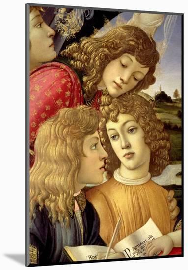The Madonna of the Magnificat, Detail of Three Boys, 1482-Sandro Botticelli-Mounted Premium Giclee Print