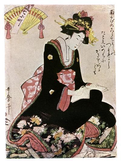 The Madonna of the Paper Stork-Kitagawa Utamaro-Giclee Print