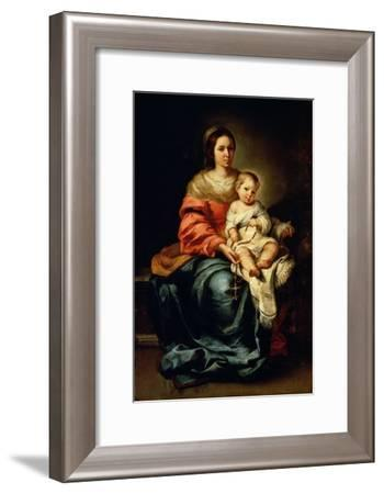 The Madonna of the Rosary-Bartolome Esteban Murillo-Framed Giclee Print