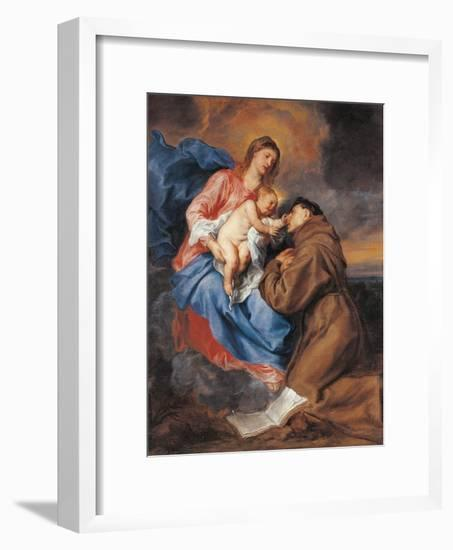 The Madonna with Child and St Anthony of Padua-Sir Anthony Van Dyck-Framed Giclee Print