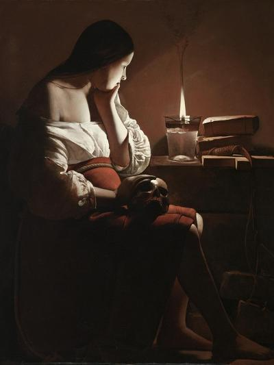 The Magdalen with the Smoking Flame, c.1638-40-Georges de la Tour-Giclee Print