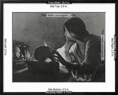 The Magdalene With Mirror Giclee