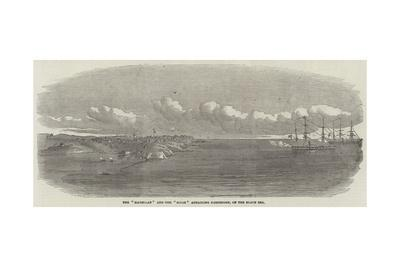 The Magellan and the Sidon Attacking Kustengeh, on the Black Sea--Giclee Print