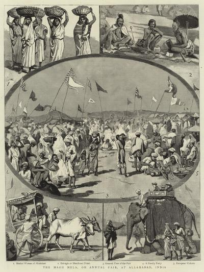 The Magh Mela, or Annual Fair, at Allahabad, India--Giclee Print