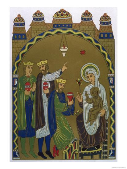The Magi Reach Jesus's Birthplace Conveniently Signposted by a Star--Giclee Print