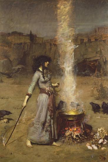 The Magic Circle-John William Waterhouse-Premium Giclee Print