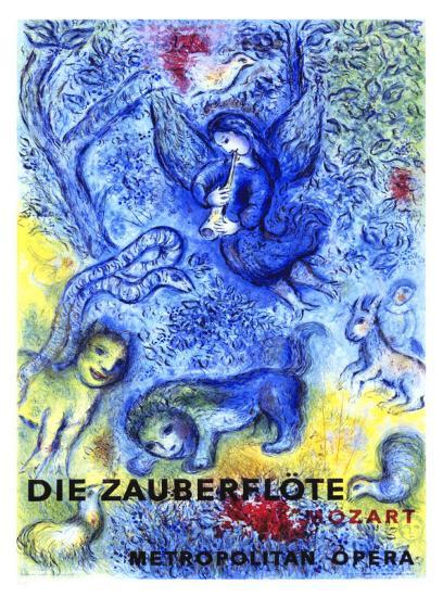 The Magic Flute-Marc Chagall-Giclee Print