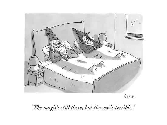 """""""The magic's still there, but the sex is terrible."""" - New Yorker Cartoon-Zachary Kanin-Premium Giclee Print"""