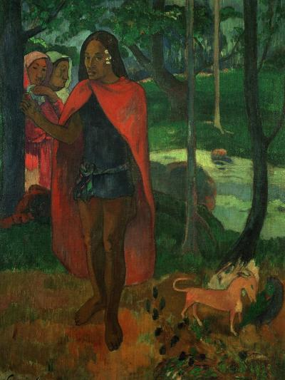 The Magician of Hiva Oa or the Marquisian Man with the Red Cape, 1902-Paul Gauguin-Giclee Print