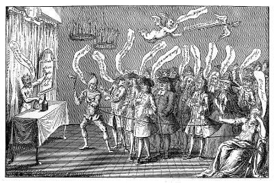 The Magician or Bottle Cungerer. English Credulity: Or, Ye'Re All Bottled, 1749--Giclee Print