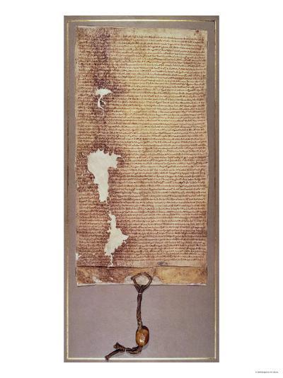 The Magna Carta of Liberties, Third Version Issued in 1225 by Henry III--Giclee Print