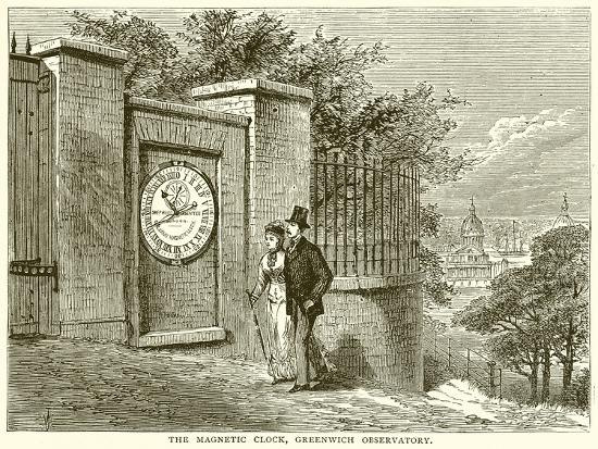 The Magnetic Clock, Greenwich Observatory--Giclee Print
