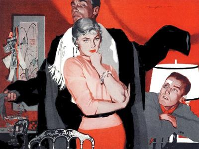 """The Magnificent Phoney  - Saturday Evening Post """"Leading Ladies"""", June 4, 1955 pg.p43-Robert Meyers-Giclee Print"""