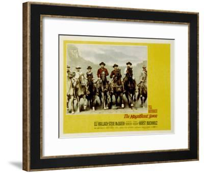 The Magnificent Seven, with Steve McQueen, James Coburn, Yul Brynner, and Charles Bronson, 1960--Framed Photo