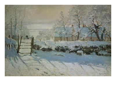 The Magpie, 1868/69-Claude Monet-Giclee Print