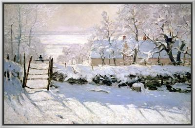 The Magpie, 1869-Claude Monet-Framed Canvas Print