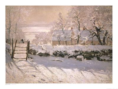 The Magpie, 1869-Claude Monet-Art Print